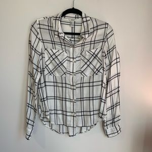 Forever 21 Black and White Plaid Top